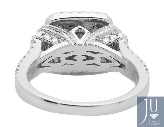 Other Invisible Princess Square Halo Diamond Engagement Ring 2.10ct. Image 2