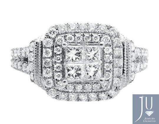 Other Invisible Princess Square Halo Diamond Engagement Ring 2.10ct. Image 3