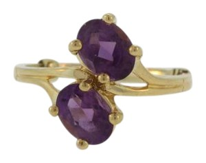Other Amethyst Bypass Ring in 14k Yellow Gold