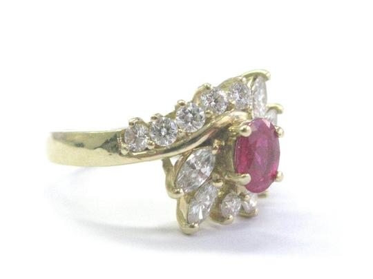 Other Fine Gem Ruby Diamond Yellow Gold Jewelry Ring 14Kt 1.46Ct F-VS1 Image 1
