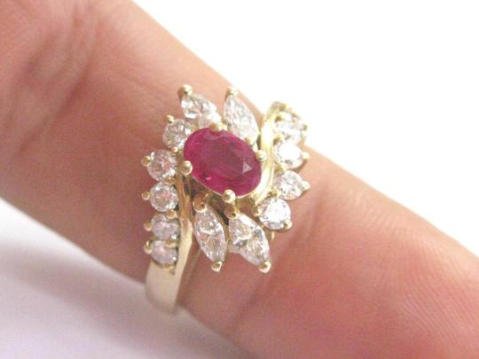 Other Fine Gem Ruby Diamond Yellow Gold Jewelry Ring 14Kt 1.46Ct F-VS1 Image 4