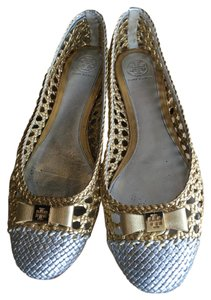 Tory Burch Silver and gold Flats