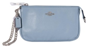 Coach Nwt Convertible Leather Wristlet in Cornflower/Silver