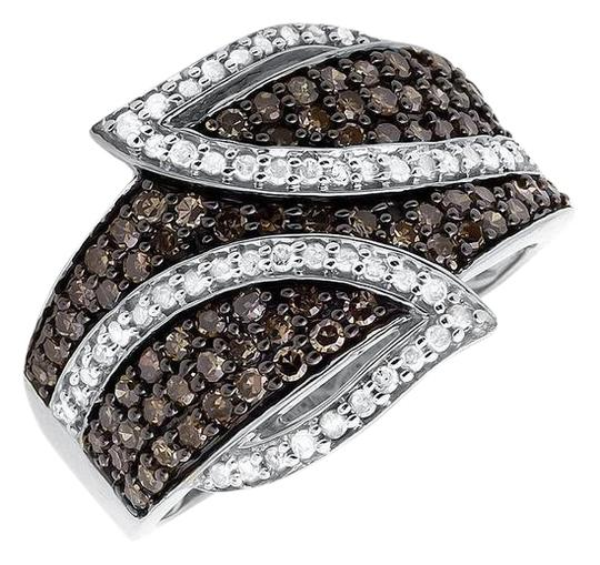 Preload https://img-static.tradesy.com/item/21076919/10k-white-gold-wide-leaf-cognac-brown-real-diamond-band-10ct-ring-0-1-540-540.jpg