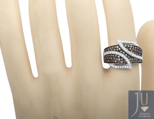 Other Wide Leaf White and Cognac Brown Real Diamond Band Ring 1.0ct. Image 1
