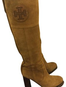 Tory Burch Yellow/ brown Boots