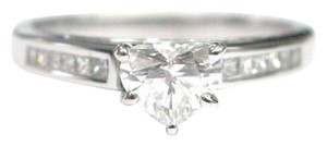 Other Fine Heart Shape Diamond Engagement Jewelry Ring WG .75CT