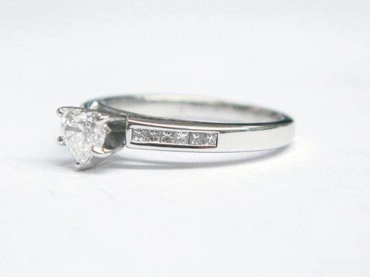 Other Fine Heart Shape Diamond Engagement Jewelry Ring WG .75CT Image 3