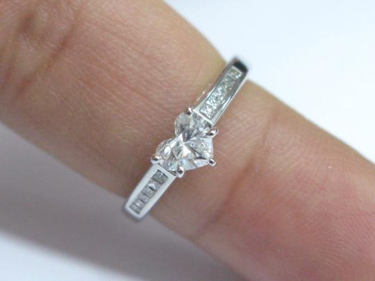 Other Fine Heart Shape Diamond Engagement Jewelry Ring WG .75CT Image 4