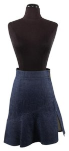 Louis Vuitton Denim High-waist Skirt Navy