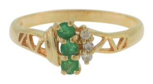 Other Antique Emerald Diamond Ring in 10k Yellow Gold