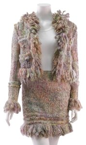 Chanel Chanel Multicolor Mohair & Wool Tweed 2-Piece Suit