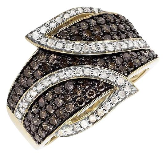Preload https://img-static.tradesy.com/item/21077148/10k-yellow-gold-wide-leaf-white-and-cognac-brown-real-diamond-band-10ct-ring-0-1-540-540.jpg