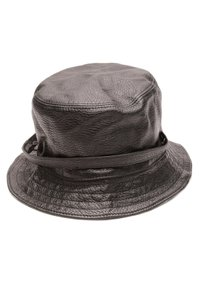 Burberry Burberry Black Leather & Nova Check Canvas Bucket Hat