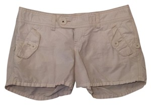 Abercrombie & Fitch & Distressed Mini/Short Shorts white