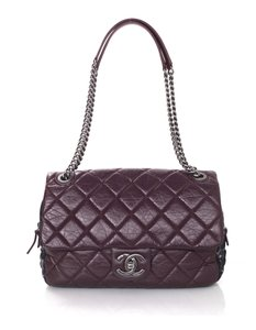 Chanel Leather Boucle Flap Shoulder Bag