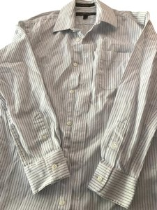 Nordstrom Button Down Shirt White with blue stripes