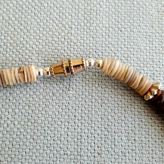 Other Tan and brown Shell Necklace with Bear Charm Image 2