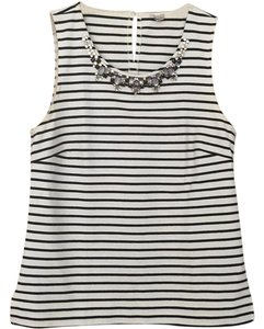 J.Crew Top black and white stripes