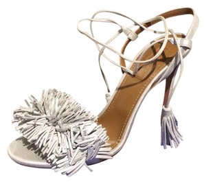 Aquazzura Silver Pumps
