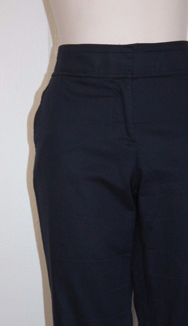 Tory Burch Ankle Cropped Blue Straight Pants Navy Image 1