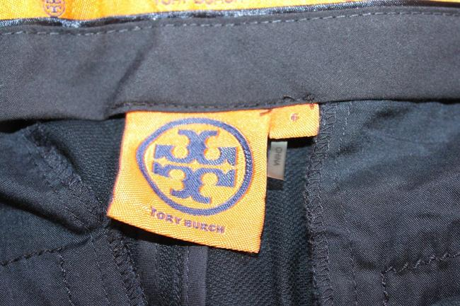 Tory Burch Ankle Cropped Blue Straight Pants Navy Image 2