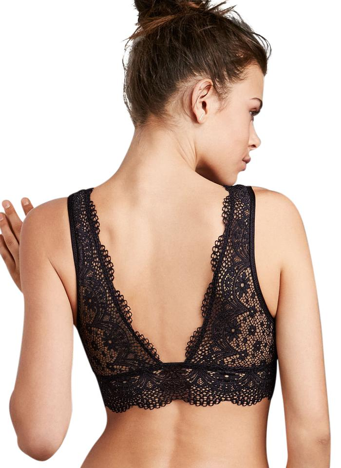 629045f895996 Victoria s Secret NEW Victorias Secret V neck Sexy Lace Long Line Plunge  Bralette Bra S Image ...