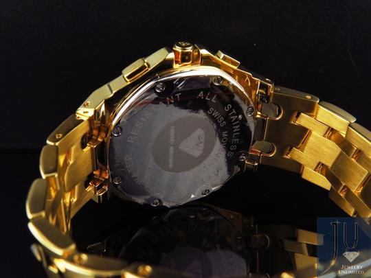 Other Mens Aqua Master 45 MM S.Steel Yellow Gold Finish Watch W#340 0.24 ct Image 1