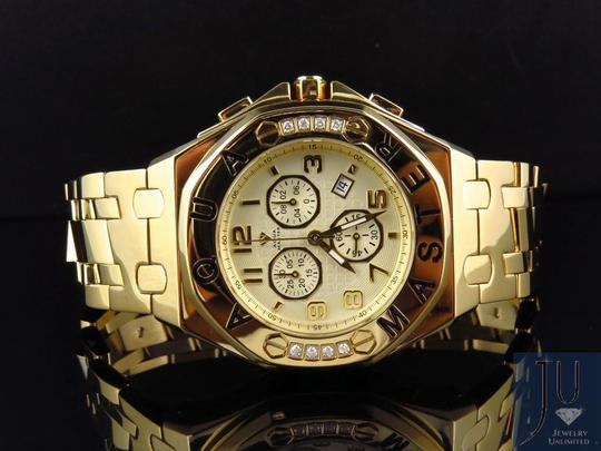 Other Mens Aqua Master 45 MM S.Steel Yellow Gold Finish Watch W#340 0.24 ct Image 3