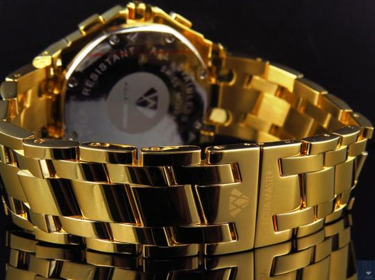 Other Mens Aqua Master 45 MM S.Steel Yellow Gold Finish Watch W#340 0.24 ct Image 6
