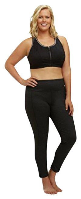 Item - Heather Black Curves High-rise Tummy Control Slim Fit with Dry-wik Finish Activewear Bottoms Size 26 (Plus 3x)