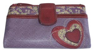 Fossil Heart Applique Clutch Soft Wallet SL2400