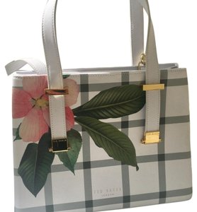 Ted Baker Satchel in white, green, pink