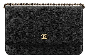 Chanel Wallet Caviar Leather Cross Body Bag