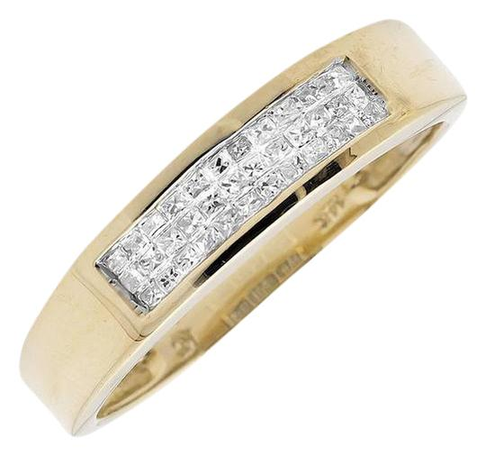 Preload https://img-static.tradesy.com/item/21077862/14k-yellow-gold-three-rows-princess-genuine-diamond-wedding-band-025ct-ring-0-2-540-540.jpg