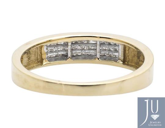 Jewelry Unlimited Three Rows Princess Genuine Diamond Wedding Ring Band 0.25ct Image 3