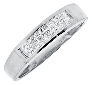 Other 14K White Gold Princess Genuine Diamond Bridal Ring Band (0.25ct)