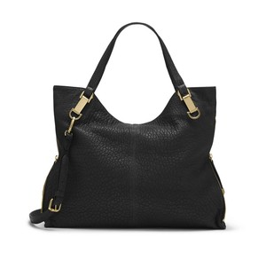Vince Camuto Riley Pebble Black Leather Tote