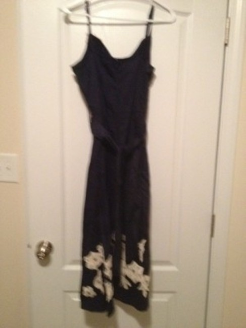 Anthropologie short dress Midnight blue and beige. on Tradesy