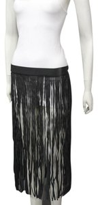 Other Fringes Long Maxi Skirt Black