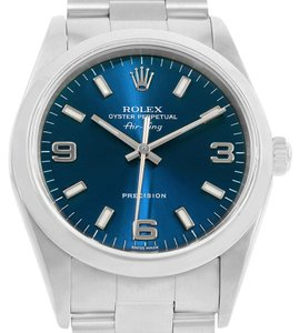 Rolex Rolex Air King Blue Dial Stainless Steel Mens Watch 14000 Box