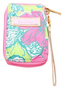 Lilly Pulitzer Pink/Green Print Wristlet