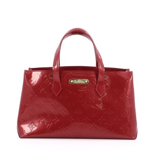 Louis Vuitton Vernis Tote in pomme d'amour red