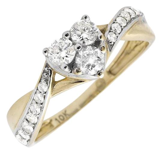 Preload https://img-static.tradesy.com/item/21078200/10k-yellow-gold-heart-swirl-infinity-twist-shank-diamond-engagement-051ct-ring-0-1-540-540.jpg