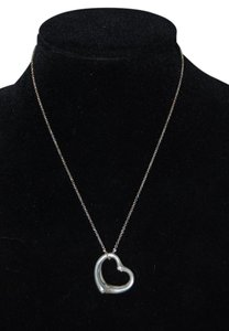 Tiffany & Co. Elsa Peretti Large 36mm Open Heart Necklace In Sterling Silver