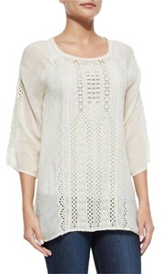 Johnny Was Boho Eclectic Festival Embroidered Tunic