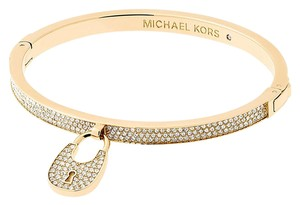 Michael Kors NWT Heritage Gold-Tone and Crystal Hinged Bangle MKJ5971710