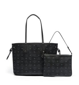 MCM Leather Tote in Black