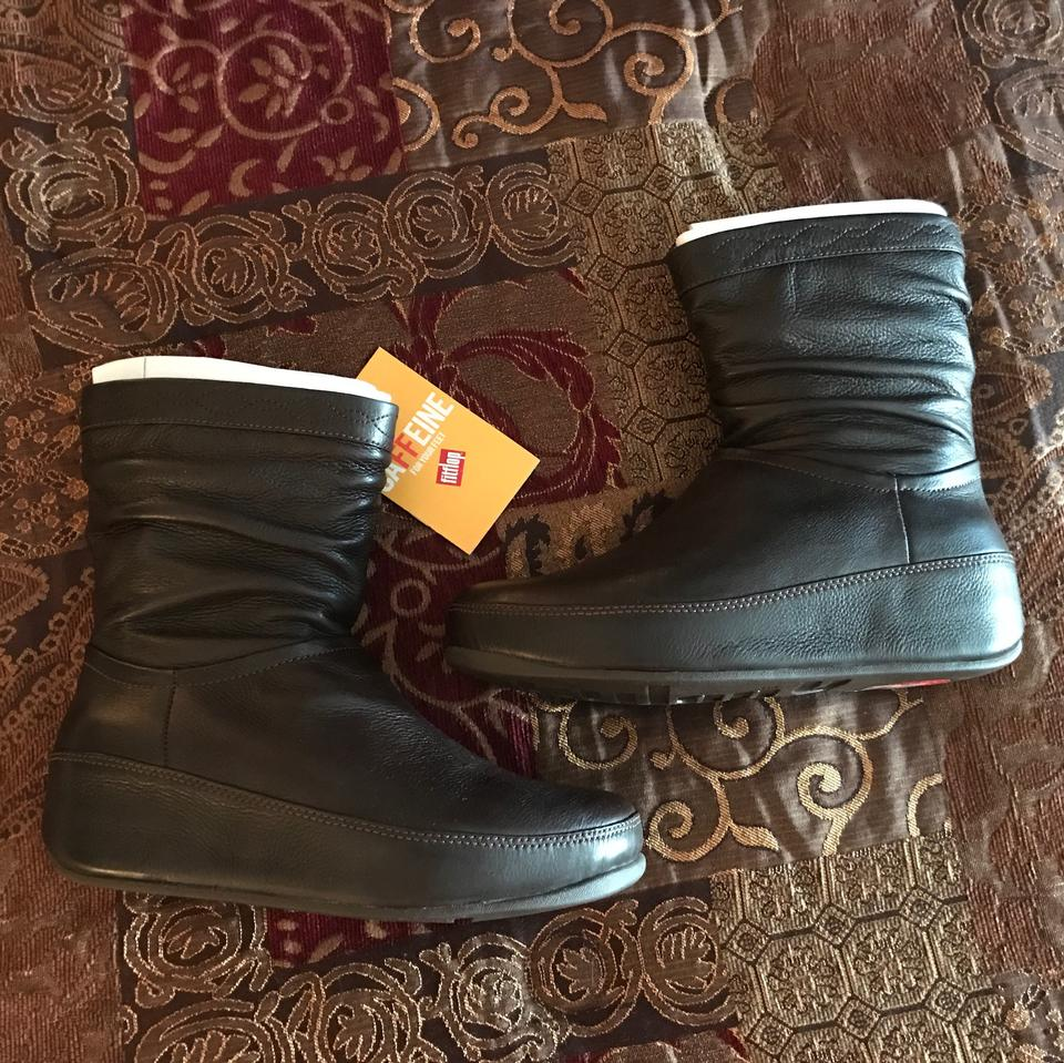 b5a5b4809 FitFlop Leather Crush Boots Booties Size US 8 Regular (M