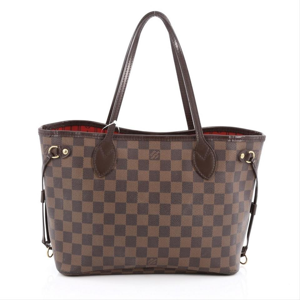 louis vuitton neverfull damier pm brown tote bag on sale 17 off totes on sale. Black Bedroom Furniture Sets. Home Design Ideas